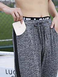 cheap -Women's High Waist Yoga Pants Harem Pocket Cropped Pants Breathable Quick Dry Black Gray Yoga Gym Workout Running Sports Activewear