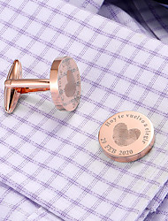 cheap -Personalized Customized Men's Cufflink Set Geometrical Geometric 1pc / pack Golden Rose Gold Black