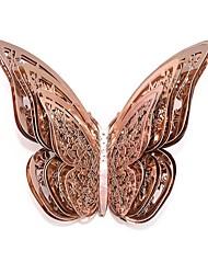 Недорогие -12 шт. / Компл. Розовое золото 3d наклейки на стену бабочка полые бумажные наклейки бабочки на свадьбу день рождения дома номер diy deco baby shower supplie