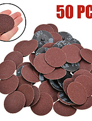cheap -50Pcs 2 inch Sanding Disc For Roloc Roll Lock Surface Sandpaper Abrasive Disc 50mm
