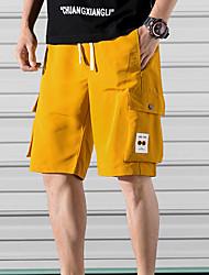cheap -Men's Basic Daily Holiday Shorts Tactical Cargo Pants - Solid Colored Drawstring Breathable White Black Yellow XS / US32 / UK32 / EU40 / S / US34 / UK34 / EU42 / M / US36 / UK36 / EU44