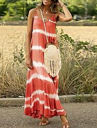 cheap -Women's A-Line Dress Maxi long Dress - Sleeveless Striped Summer Casual 2020 Blue Purple Blushing Pink Orange Green Gray S M L XL XXL XXXL XXXXL XXXXXL