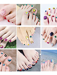 cheap -1 pcs 3D Nail Stickers Floral Theme / Creative nail art Manicure Pedicure Universal / Water Resistant / Ergonomic Design Sweet / Cute Party / Evening / Daily / Festival