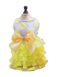 cheap -Dog Dress Dog Clothes Yellow Pink Blue Costume Fabric Floral Botanical Fashion New Year's XS S M L XL