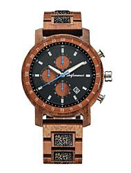 cheap -Men's Sport Watch Quartz Fashion Noctilucent Analog Red Brown / Wood / Japanese / Japanese