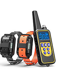 cheap -Dog Training Collar Waterproof Rechargeable 2600ft Remote Dog Shock Collar with LED Light Beep Vibration Shock for Medium/Large Breed 2 Electronic Collars Neck Lanyard