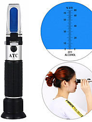 cheap -portable refractometer hydrometer for Alcohol Meter Tester 0-80% Wine Alcohol Tester Meter alcoholometer alcoholmeter ATC