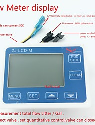 cheap -ZJ-LCD-M Display controller for Hall flow sensor total flow and set how many flow out controller