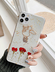 cheap -Drive in Real Flower TPU Lovers Protection Cover for Apple iPhone Case 11 Pro Max X XR XS Max 8 Plus 7 Plus SE(2020)