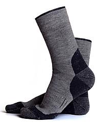 cheap -R-BAO Hiking Socks Socks 1 Pair Breathable Warm Sweat-wicking Comfortable Chinlon Elastane Autumn / Fall Spring Winter for Men's Ski / Snowboard Fishing Climbing Dark Grey Black Army Green / Cotton