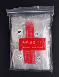 cheap -500pcs Plastics Ergonomic Design Durable Simple Elegant Office / Career Daily Artificial Nail Tips for Finger Nail / Romantic Series