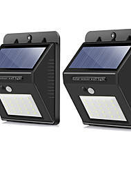 cheap -BRELONG® 2pcs 5 W Solar Wall Light Waterproof Solar Powered Infrared Sensor Cold White 3.7 V Outdoor Lighting Courtyard Garden 20 LED Beads