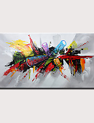 cheap -Mintura Hand Painted Modern Abstract Oil Paintings on Canvas Wall Picture Pop Art Posters For Home Decoration Ready To Hang With Stretched Frame