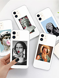 cheap -Case For Apple iPhone 11 11 Pro 11 Pro Max XS XR XS Max 8 Plus 7 Plus 6S Plus 8 7 6 6s SE 5 5S Transparent Pattern Back Cover Alternative Statue Art Soft TPU