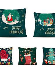 cheap -Set of 5 Linen Pillow Cover Animal Graphic Prints Christmas Throw Pillow