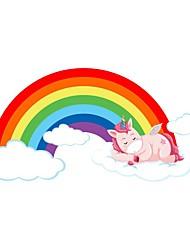 cheap -Unicorn Rainbow Decorative Wall Stickers - Plane Wall Stickers Nursery / Kids Room 60*29cm