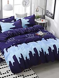 cheap -City Series Polyester 4 Piece Duvet Cover Bedding Set