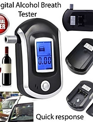 cheap -Professional Digital Breath Alcohol Tester Breathalyzer with LCD Dispaly with 5 Mouthpieces AT6000 Bafometro Alcoholimetro