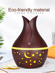 cheap -USB Wood Grain Essential Oil Diffuser 330ml Ultrasonic Humidifier Household Aroma Diffuser Aromatherapy Mist Maker with Light