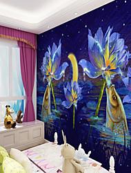 cheap -Art Deco Custom Self Adhesive Mural Wallpaper Fish Children Cartoon Style Suitable For Bedroom