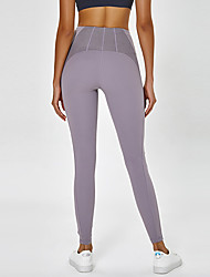 cheap -Women's High Waist Yoga Pants Cropped Leggings Butt Lift 4 Way Stretch Breathable Gray Nylon Non See-through Yoga Running Fitness Sports Activewear High Elasticity / Quick Dry / Moisture Wicking