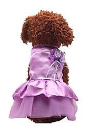 cheap -Dog Outfits Dress Dog Clothes Purple Red Blue Costume Polyster Bowknot Wedding XXS XS