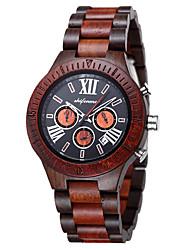 cheap -Men's Sport Watch Quartz Sparkle Wooden Analog Red Brown / Japanese / Japanese