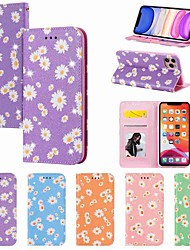 cheap -Case For Apple iPhone 11 iPhone 11 Pro iPhone 11 Pro Max Wallet Card Holder with Stand Full Body Cases Small Daisies PU Leather TPU for iPhone Xs Max Xr Xs X SE (2020) 8 Plus 8