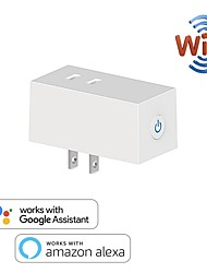 cheap -10 A Japan WiFi Switch Socket Plug JP Wireless Extender Remote Outlet Adaptor Smart Home Automation Alexa Google Compatible
