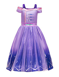 cheap -Frozen Princess Dress Cosplay Costume Girls' Movie Cosplay Halloween Christmas Purple Dress Christmas Halloween / Sleeveless