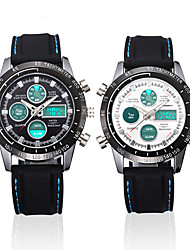 cheap -Men's Digital Watch Digital Fashion Water Resistant / Waterproof Analog - Digital Black / Silver Black / One Year / Silicone