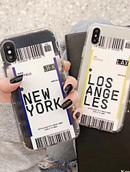 cheap -Hot Tide Of US City Barcode Label Clear TPU Phone Case For iphone 11 pro Max Xs MAX XR X 6s 7 8 Plus Cover Fashion Fashionable