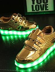 cheap -Girls' LED Shoes / USB Charging PVC Flats Little Kids(4-7ys) White / Pink / Gold Summer