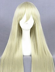 cheap -Cosplay Costume Wig Cosplay Wig Shimakaze Fighting Boat Straight Cosplay Halloween With Bangs Wig Long Blonde Synthetic Hair 31 inch Women's Anime Fashionable Design Cosplay Blonde