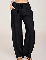 cheap -Women's Basic Daily Chinos Pants Solid Colored Black Blue Navy Blue Gray