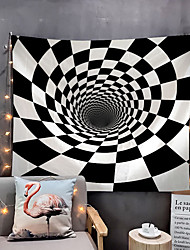 cheap -Home Living Creative 3D Illustratihypnotic Psychedelic Spiral Art Radial Rays Tapestry Wall Hanging Tapestries Wall Blanket Wall Art Wall Decor Flower Moon Tapestry Wall Decor