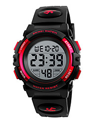 cheap -SKMEI Kids Digital Watch Digital Sporty Black / Blue / Red 30 m Calendar / date / day Chronograph Stopwatch Digital Outdoor - Black Blue Red One Year Battery Life