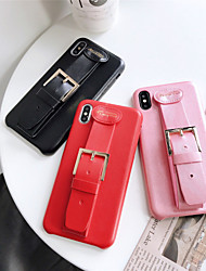 cheap -Solid Colored Leather Ring Holder Stand Protection Cover for Apple iPhone Case 11 Pro Max X XR XS Max 8 Plus 7 Plus SE(2020)