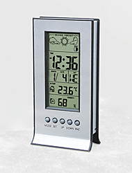 cheap -H106A weather forecast station at home electronic desk clock indoor hygrometer digital electronic alarm clock multifunction weather station