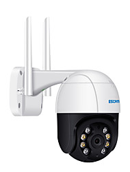 cheap -ESCAM QF518 5MP Pan/Tilt AI Humanoid Detection Auto Tracking Cloud Storage Waterproof WiFi IP Camera with Two Way Audio Night Vision