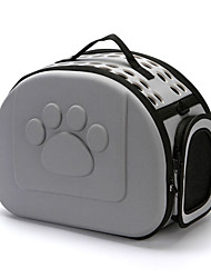 cheap -Dog Rabbits Cat Cages Foldable Travel Carrier Bag Airline Approved Pet Carrier Portable Durable Casual / Daily Solid Colored Silica Gel Black Red Pink