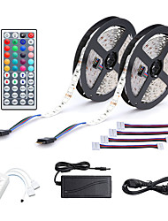 cheap -2x5M LED Light Strips RGB Tiktok Lights 150x5050 10mm 44Key IR Controller with 4 Connectors RGB Tiktok Lights Cuttable Self-adhesive