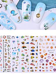 cheap -1 pcs Full Nail Stickers Fish / Shell nail art Manicure Pedicure Creative / Light and Convenient Romantic / Cute Party / Evening / Daily
