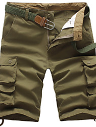 cheap -Men's Streetwear Punk & Gothic Going out Weekend Slim Cotton Shorts Tactical Cargo Pants - Solid Colored Sporty Outdoor Spring Summer Black Army Green Light Brown US36 / UK36 / EU44 / US38 / UK38