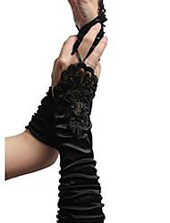 Недорогие -Перчатки С кружевами Без пальцев Satin Назначение Невеста Косплей Хэллоуин Карнавал Жен. Бижутерия Модное ювелирное украшение