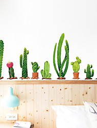 cheap -Fresh Cactus Wall Stickers PVC Home Decoration Wall Decal Wall Decoration