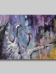 cheap -Oil Painting Hand Painted Abstract Abstract Landscape Comtemporary Modern Rolled Canvas Birds Rolled Without Frame