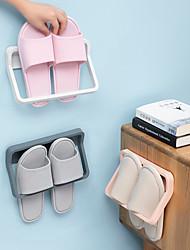 cheap -Bathroom Slippers Frame On the Wall From Stiletto Shoe Rack Shelf Toilet Receive Artifact Rack Shelf Hanging Drop Color Random