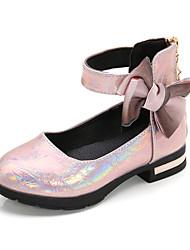 halpa -Tyttöjen Comfort PU Sandaalit Pikkulapset (4-7 vuotta) / Suuret lapset (7 vuotta +) Ruseteilla Pinkki / Ruskea Kesä / Syksy