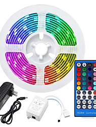 cheap -LED Strip Lights RGB Tiktok Lights 12V SMD 5050 LED Tape Multi-colors with 40Keys Remote 300 LEDs Non-waterproof Light Strips Color Changing Pack of 5m Strips